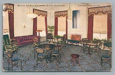 South Shore Country Club CHICAGO Rare Antique—Ladies Tea Room Interior 1910s