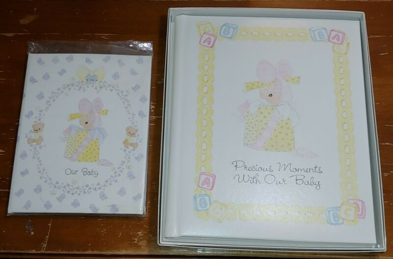NEW Fill-In Memory Book & Photo Frame Precious Moments Our Baby Shower Gift VTG!