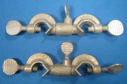 FISHER  CASTALOY  CLAMP  SWIVEL  HOLDERS  X2  EARLY  MODEL??  FREE  SHIPPING  BB