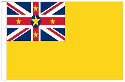 New Zealand Niue Sleeved Courtesy Flag ideal for Boats 45cm x 30cm