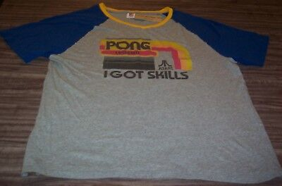 VINTAGE STYLE ATARI PONG LEGEND I Got Skills Video Game T-Shirt 2XL NEW w/ TAG