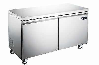 Heavy Duty Commercial Two Door Under-counter Freezer