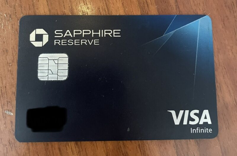 Expired Inactive Vintage Chase Sapphire Reserve Credit Card VISA INFINITE METAL