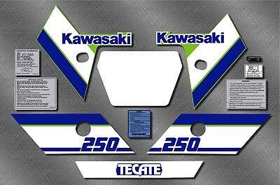 Kawaski Tecate 1986 Decals 86 KXT 250 KXT250 87 1987
