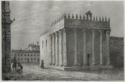 EVORA PORTUGAL TEMPLO DE DIANA ROMANO ROMANISCHER TEMPEL TEMPLE 1846 ARTEMIS