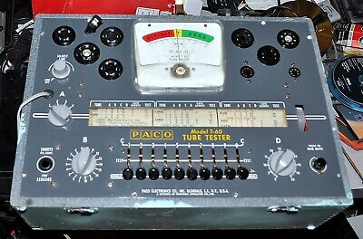 Paco Model T-60 Tube Tester Works Good Commercial Surplus