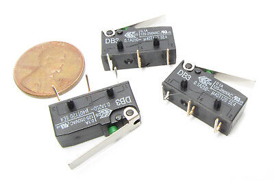 3 X Cherry Db3 Micro Switch Nc No 0.1a 125v 250v Ac Momentary Lever Limit Spdt I