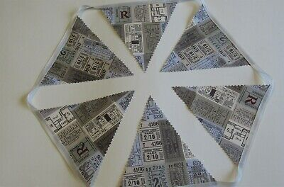Travel Bunting ticket Railway Farewell party fabric - Farewell Party Supplies