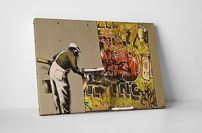 Banksy Regent's Canal Mural Gallery Wrapped Canvas Print. BONUS WALL DECAL! (Mural Gallery)