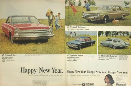 Plymouth Barracuda Belvedere Fury Valiant Car Magazine Print Ad Vintage 1965