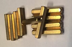 25mm M3 Hex Brass Spacer / PCB Standoff Posts (10 pack)
