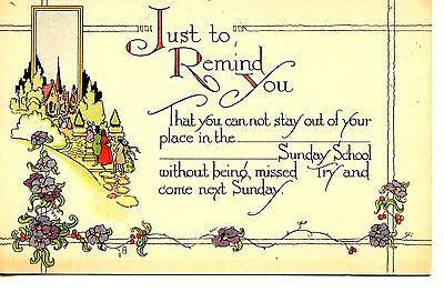 Sunday School Craft (Church Attend Sunday School-Deco Arts-Crafts Drawing Religious Vintage)