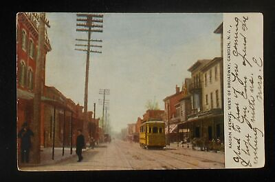 1906 Kaighn Avenue West of Broadway Trolley Stores Camden NJ Postcard New Jersey