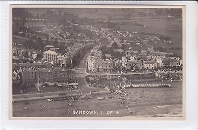 Postcard Aerial View Sandown, Isle of wight. View Avenue Road & College Close