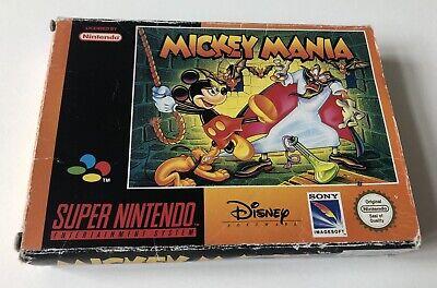 Mickey Mania Super NES Nintendo SNES Boxed PAL