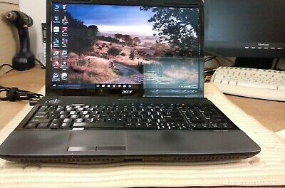 "ACER Aspire 6930G LAPTOP WINDOWS 10 16"" Intel Core 2 Duo 2GHz 4gb  250gb NICE"