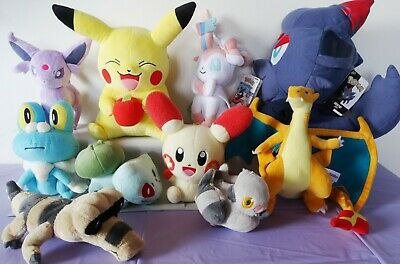 Pokemon plush toy PIKACHU, ZORUA, PLUSLE, SYLVEON, CHARIZARD, BULBASAUR, ESPEON