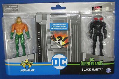 "Aquaman Black Manta 4"" Action Figure 2-Pack 2020 DC Heroes Unite Spin Master 1st"