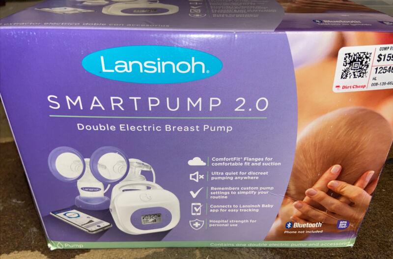 Lansinoh 53250 Smartpump 2.0 Double Electric Breast Pump, Quiet Portable Sealed