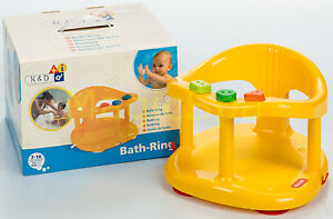 Infant-Baby-Bath-Tub-Ring-Seat-KETER-Yellow-SHIPPING-FROM-USA-new-in-BOX