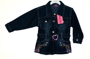 GIRLS BEAUTIFUL AND GORGEOUS FLORAL EMBROIDERY DETAIL DENIM JACKET (4-13 YEARS)