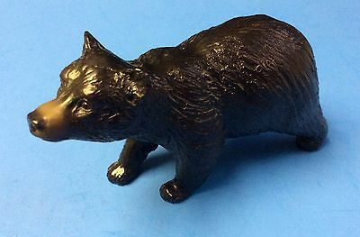 "Vintage Breyer Plastic Molding Black Bear Cub 3"" X 6"""