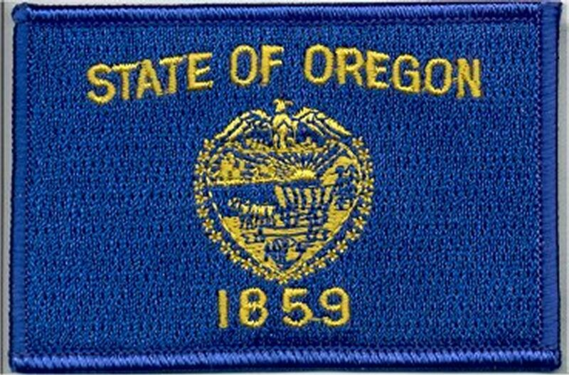 State Flag 100% Embroidered Patch - Oregon