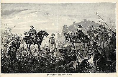 Unbekannt ( Kosakengeschenk ) Militärische Graphik von 1899