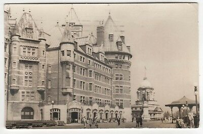 Rare 1938 Quebec City Canada Rppc Real Photo Postcard Chateau Frontenac Qc