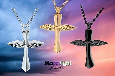 New Cross Wings Angel Urn Ashes Cremation Keepsake Memorial Necklace Memorial Angel Urn
