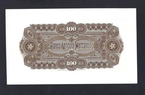 Nicaragua Back 100 Pesos 6-1-1888  PS112p  Proof Uncirculated