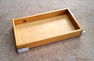 """Solid maple pantry pull our shelf, cabinet slide out tray 12""""- dovetail corners"""