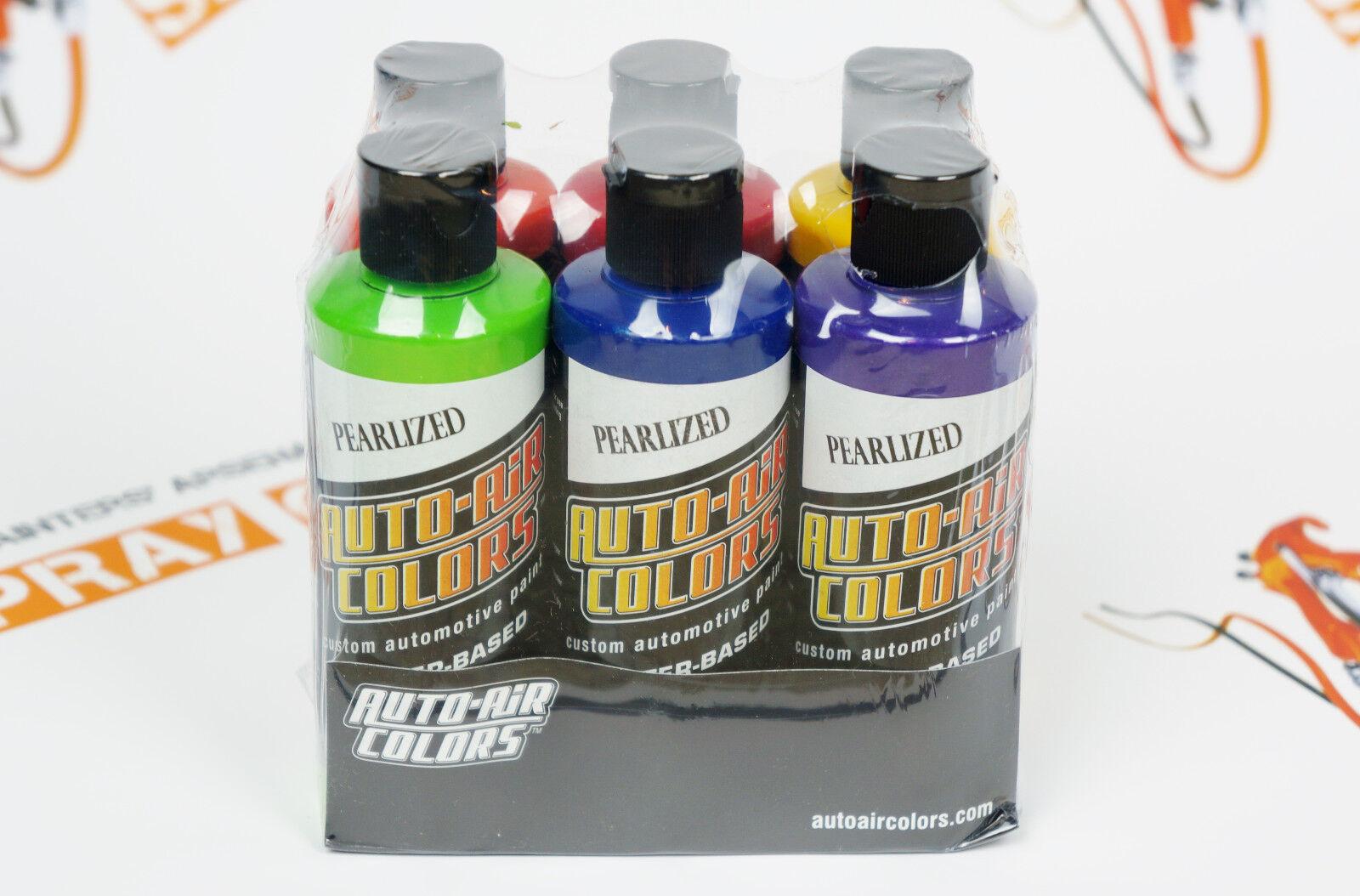 Createx Auto-Air Essential Pearlized Colors Set 6 colors 4oz