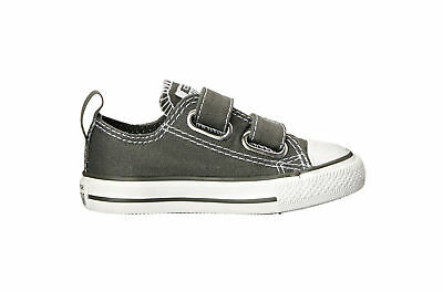 Converse INFANT toddler All Star Chuck Taylor 2V OX Charcoal 711358F NEW $36