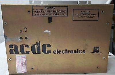 Acdc Emerson Model Rsf501b-2000-4104 115230v Output 5v At 100 Amps. 500watts