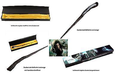 Orginalgetreues Replikat Zauberstab Bellatrix Lestranges (Harry Potter)+Box 34cm
