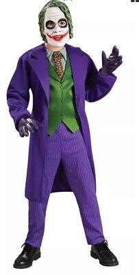 The Joker Costume Batman The Dark Knight Deluxe Halloween , Child's Medium Size