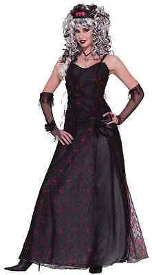 Prom Zombie Vampire Queen Gothic Gown Fancy Dress Up Halloween Adult - Gothic Prom Queen Kostüm