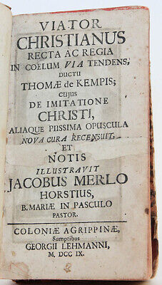 1709 The Christian Traveler (Viator Christianus) of Thomas a Kempis Engravings