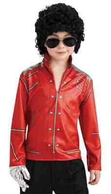 Michael Jackson Beat It Red Zipper Jacket Fancy Dress Up Halloween Child Costume - Kids Michael Jackson Halloween Costume
