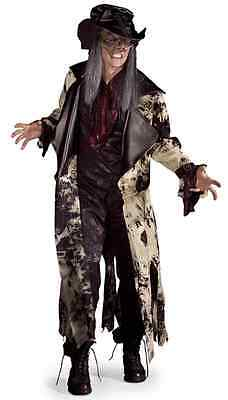 Bad Hatter Mad Alice Gothic Scary Zombie Fancy Dress Halloween Adult Costume](Scary Alice Costume)