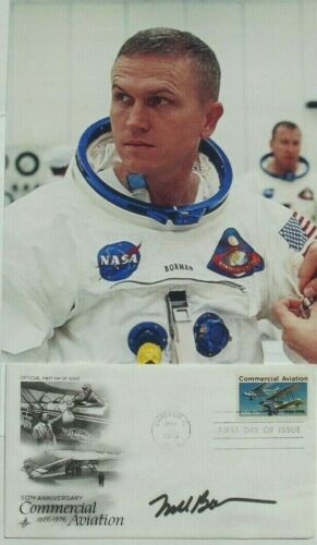 Apollo 8 Commander Frank Borman Signed Commemorative Cover Autograph