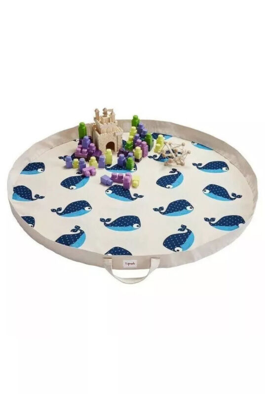 New! Kids Play Mat Portable Floor Activity Rug Storage Toy Bag Whale 3 Sprouts