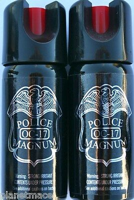 Pack of 2 Police Magnum Twist Lock 2 oz Stream Pepper Spray New-PM2TL-STRMX2