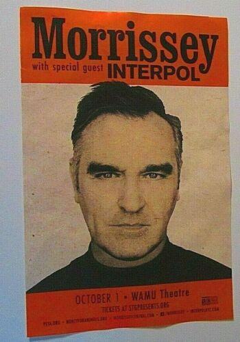 Morrissey w/ Interpol 2019 Concert Original Seattle Show Poster