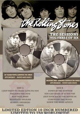 """THE ROLLING STONES THE SESSIONS VOLUME 3 10"""" CLEAR VINYL LP NUMERED 1/750"""