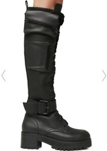 Knee high combat boots. Size 9