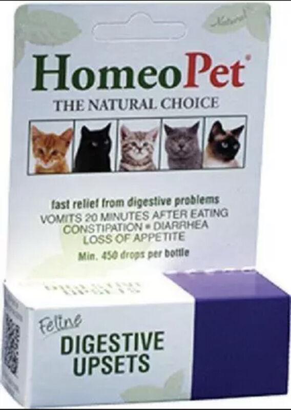 Brand New Sealed HomeoPet Feline Digestive Upsets Liquid Drops