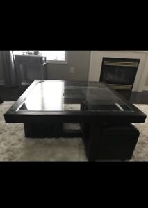 Square coffee table 38.5 inches from the Brick
