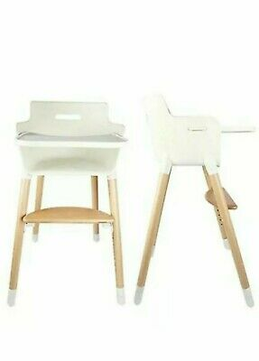 Ashtonbee Wooden High Chair with Harness and Removable Tray - 3 in 1